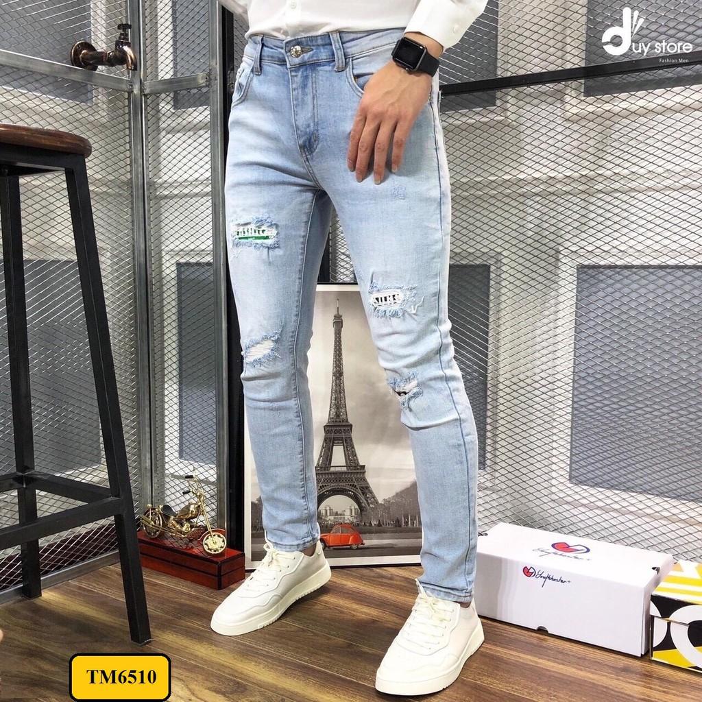 quần jean nam mã đẹp kiểu Hàn TM6510