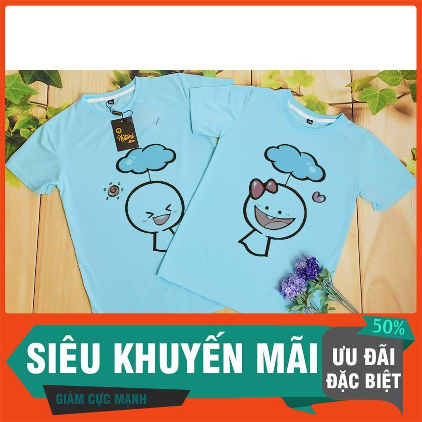 [GIẢM 50%] I3242 Áo Thun Đôi In Cute , áo thun, áo thun tay lỡ, áo phông