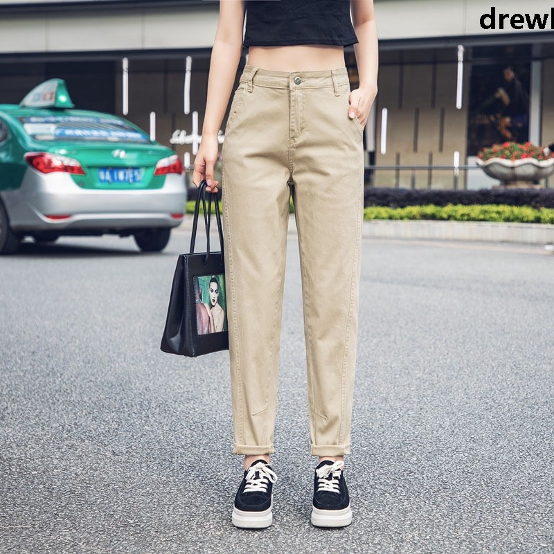 Quần Jeans Nữ Dài Chất Cotton Thời Trang Năng Động