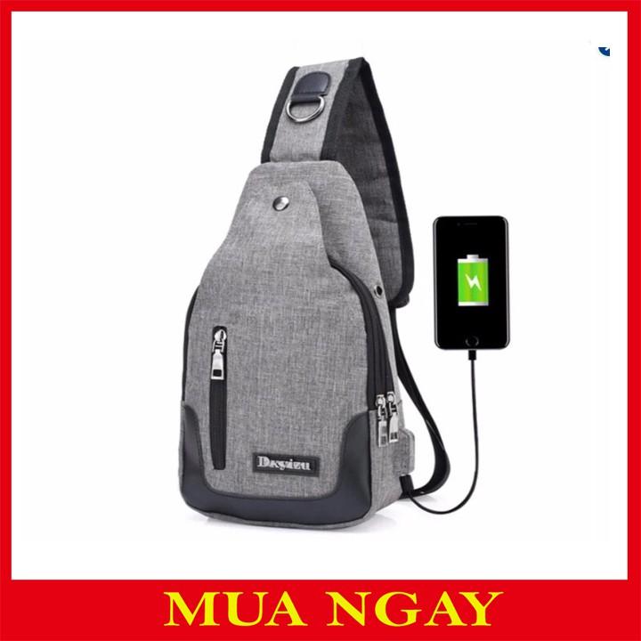 Túi Đeo Chéo Tiện Dụng USB
