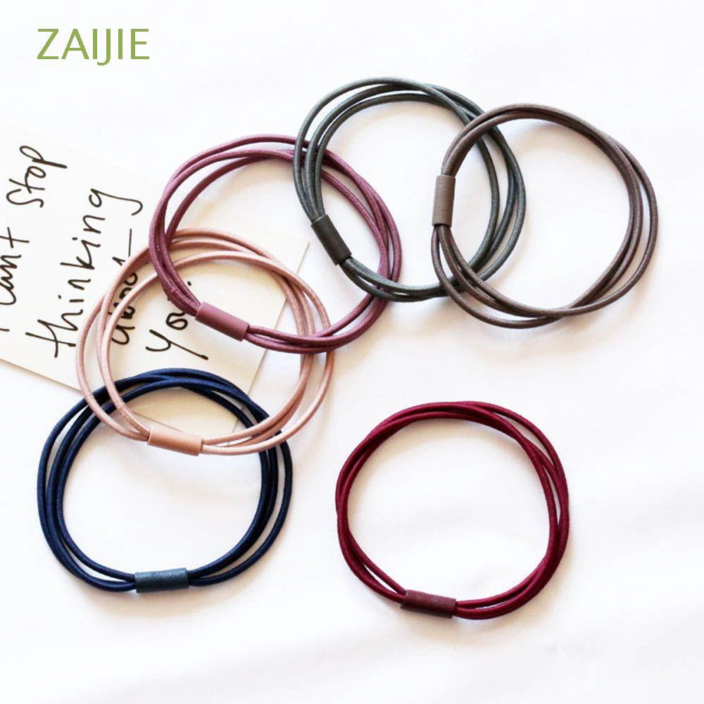 Hình ảnh ZAIJIE 10 PCS Fashion Ties Scrunchie Hair Accessories Ornament Rubber Hair Band