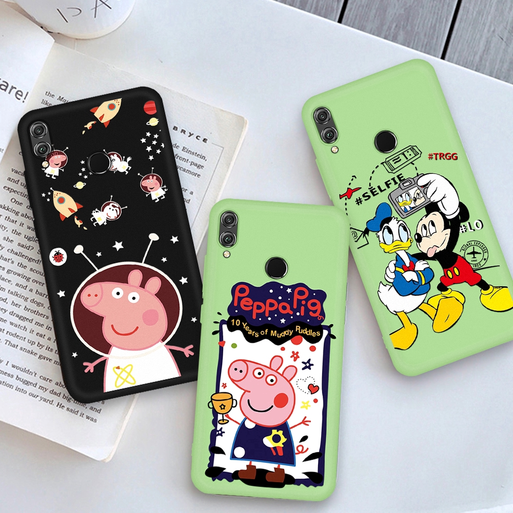 Mickey Mouse Cartoon Silicone Cover For Huawei Honor 8X 9X 9 20 P20 P30 Pro Lite Nova 5 5i Cute Soft TPU Case