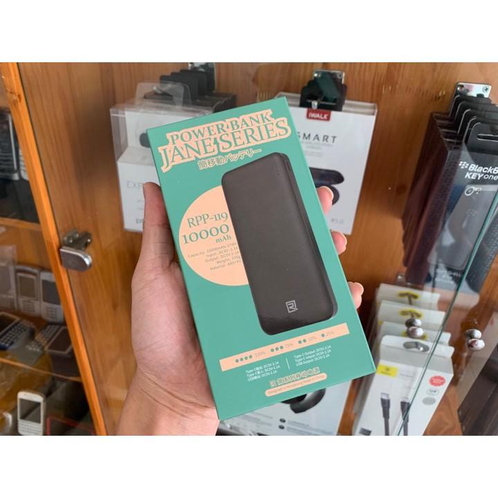 [Mã ELMTCPW10 hoàn 10% xu đơn 300k] Pin dự phòng Remax chính hãng 10000 mAh RPP 119- màu đen - shop.Quang3g