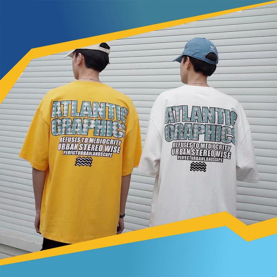[SALE HOT 50%] Áo Thun Tay Lỡ ATLANTIC GRAPHICS Unisex (3 màu) , áo thun, áo khoác, quần short