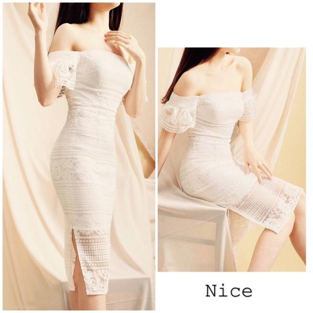 Nice Dress - Đầm ren trễ vai dự tiệc - Hàng thiết kế