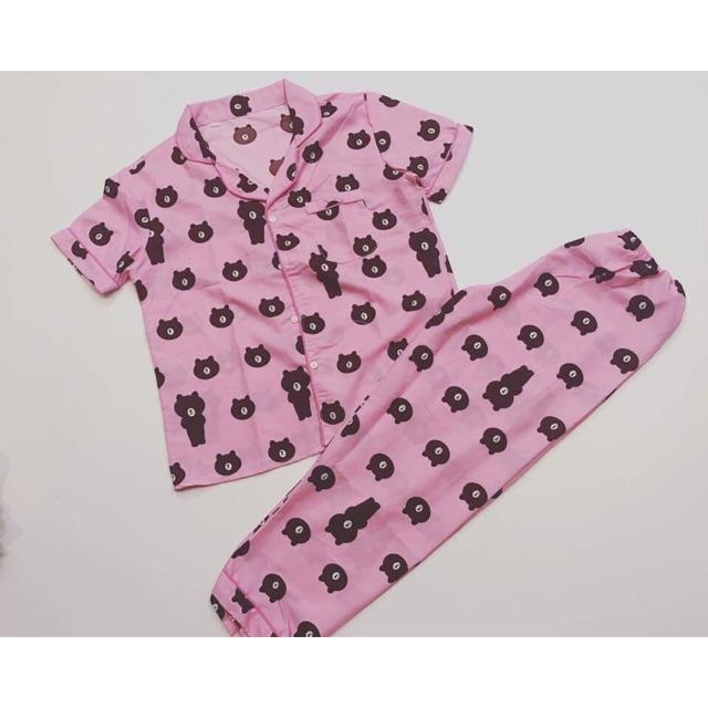 Bộ ngủ thái quần dài áo cộc