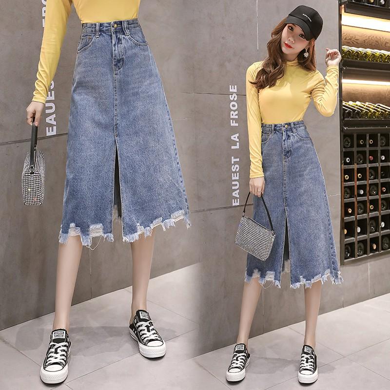 Chân Váy Lưng Cao Thời Trang Theo Phong Cách Hồng Kông