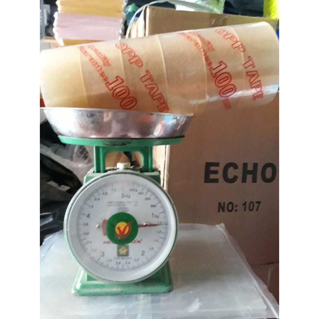 Băng keo trong/đục 5F 100Ya - 1.2kg/cây (6 cuộn)