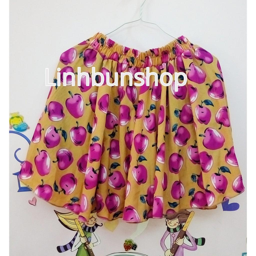 [THANH LÝ] Chân váy vài lanh mịn họa tiết