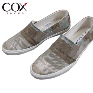 Giày Lười Nữ Cox Shoes Siliver/Brown 21