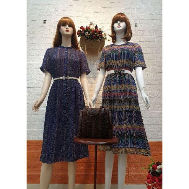 Đầm vintage Hạnh Đào Hồng