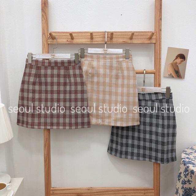 Chân Váy kẻ 3 màu hàng quảng châu