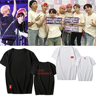 Áo Thun LOVE YOURSELF WORLD TOUR BTS chất cotton