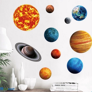 Hình ảnh BN Jupiter Sun Saturn Neptune Uranus Earth Venus Mars Mercury Glowing Wall Stickers Solar System Planets Decals LDYLIST