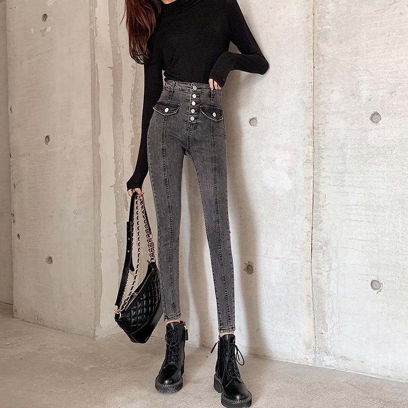 Chân Váy Jean Lưng Cao Thời Trang 2019 Cho Nữ