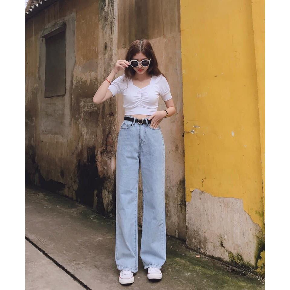 Quần Jeans ống suông - ảnh thật 100%