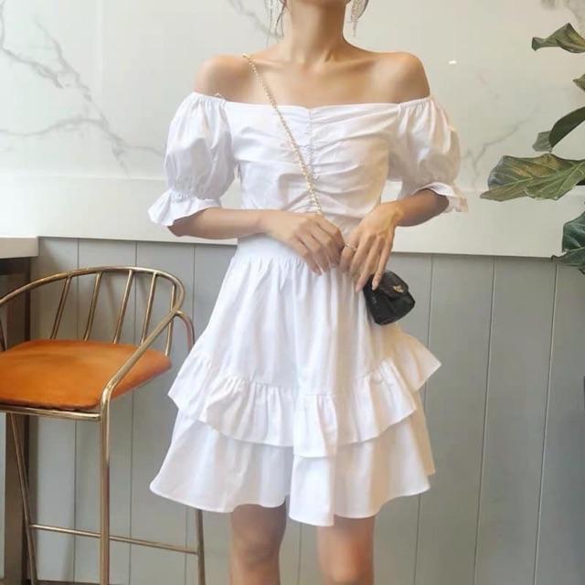 Combo đầm bệt trắng