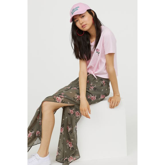 CHân váy hoa rêu H&M new auth 100% size s
