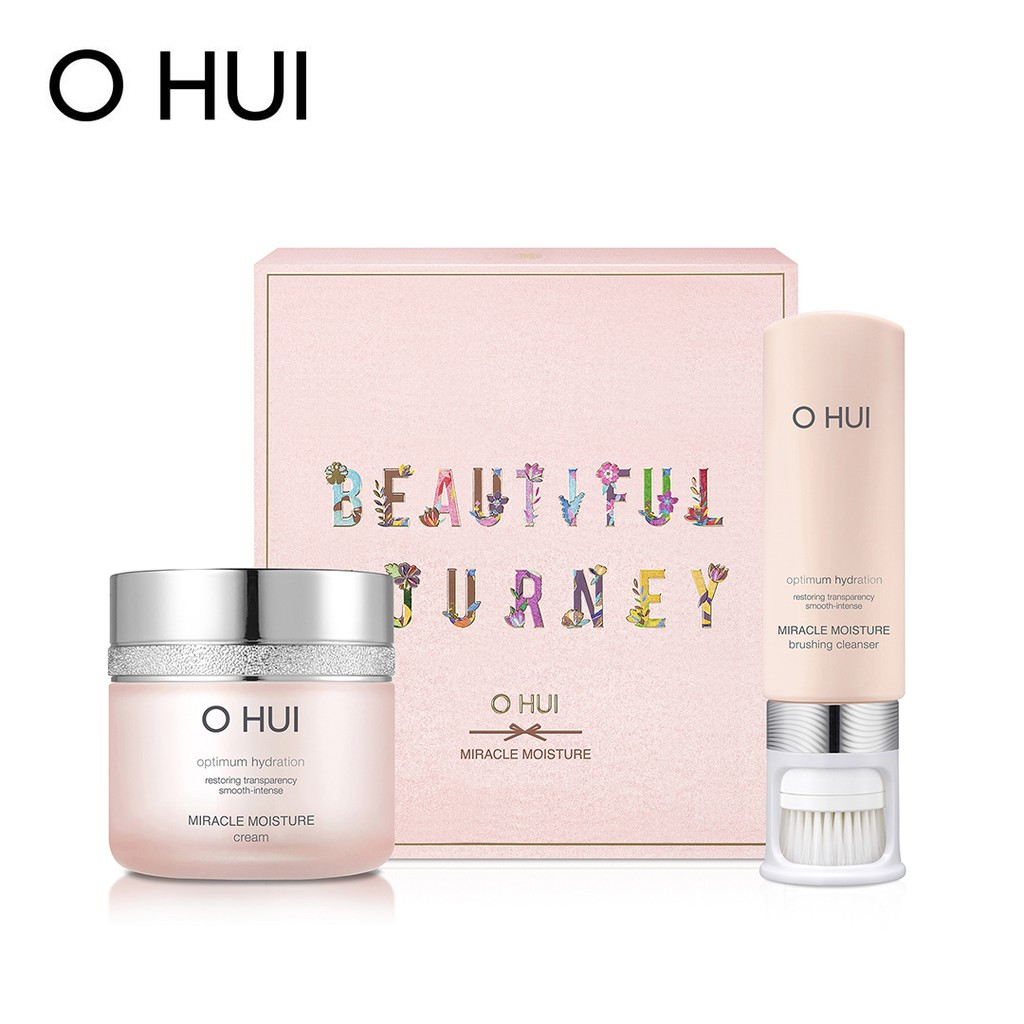 Bộ Đôi Dưỡng Ẩm Làm Sạch OHUI Miracle Moisture Cream Set 2pcs 200ml