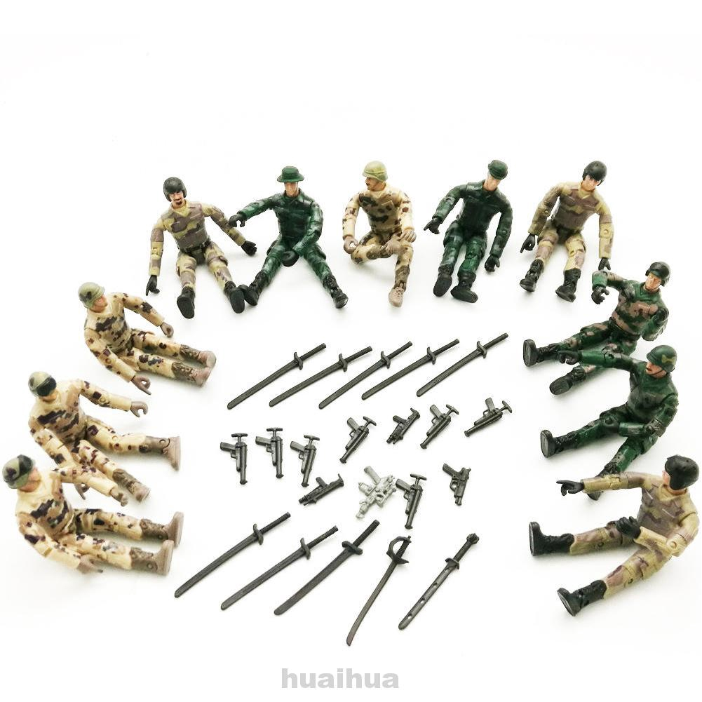 4pcs WPL Gift For Kids Collection Action Figure Soldier RC Car Parts Multi-Joint Movable Simulate Doll