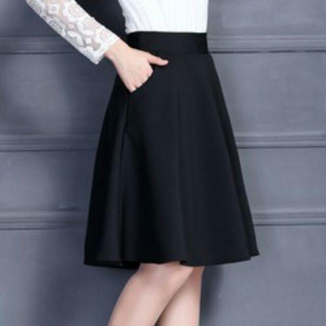 Chân váy xòe vải umi dày dặn, chất đẹp kèm túi 2 bên