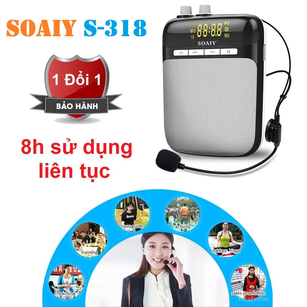 Loa trợ giảng mini SOAIY S-318 - Máy trợ giảng Mini SOAIY S-318