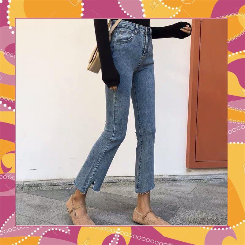 [ Cao Cấp ] Quần Jeans Đen Và Xanh Ống Loe (Có Lớn) -Tcs03 Stress Style