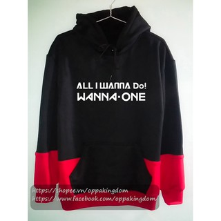 Áo hoodie Wanna One All I wanna do
