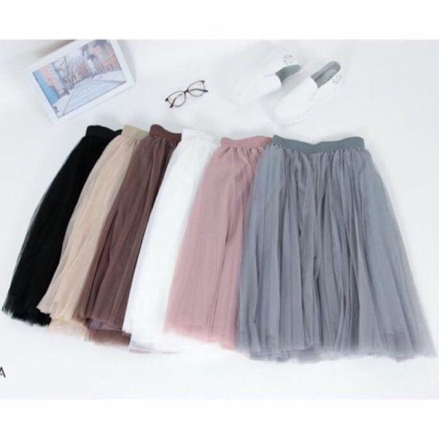 Váy công chúa 3 lớp - chân váy tutu xoè xếp li xinh