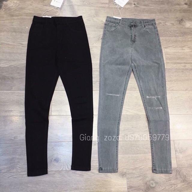 Quần jeans rách gối(2 màu)