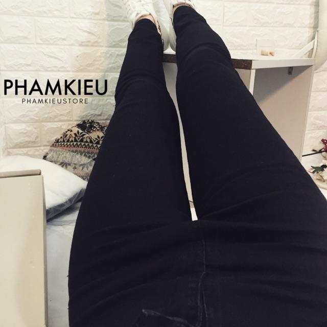Combo 2 quần jeans trơn & rách gối