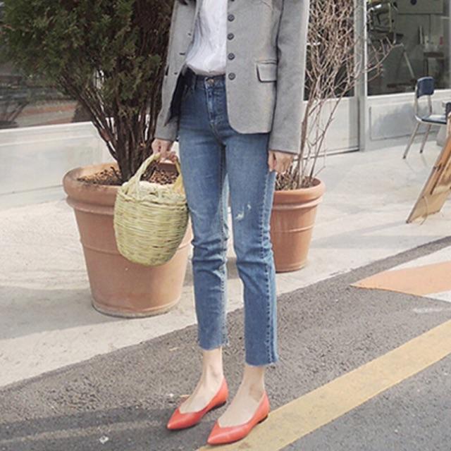 Quần jeans ôm lửng Hàn