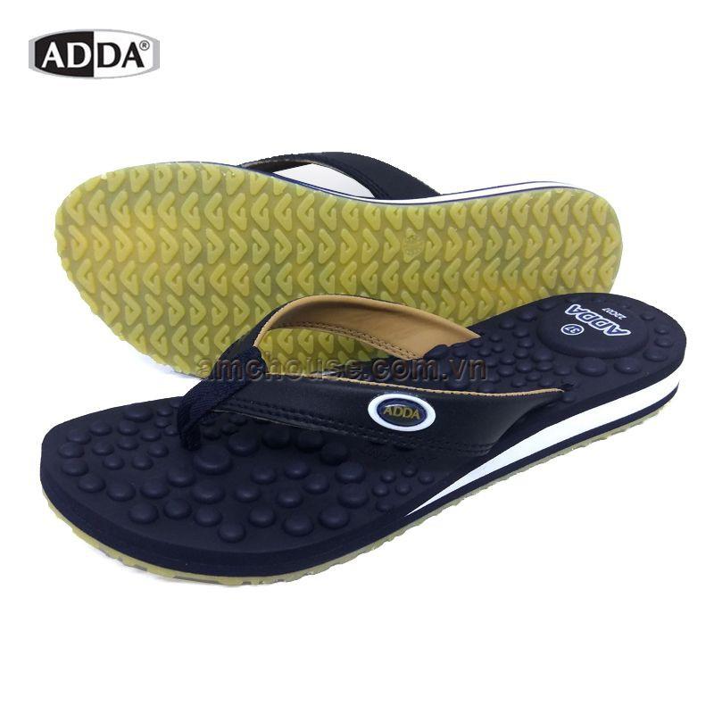 Dép Thái Lan nữ xỏ ngón mát-xa ADDA 22C07 - ĐEN