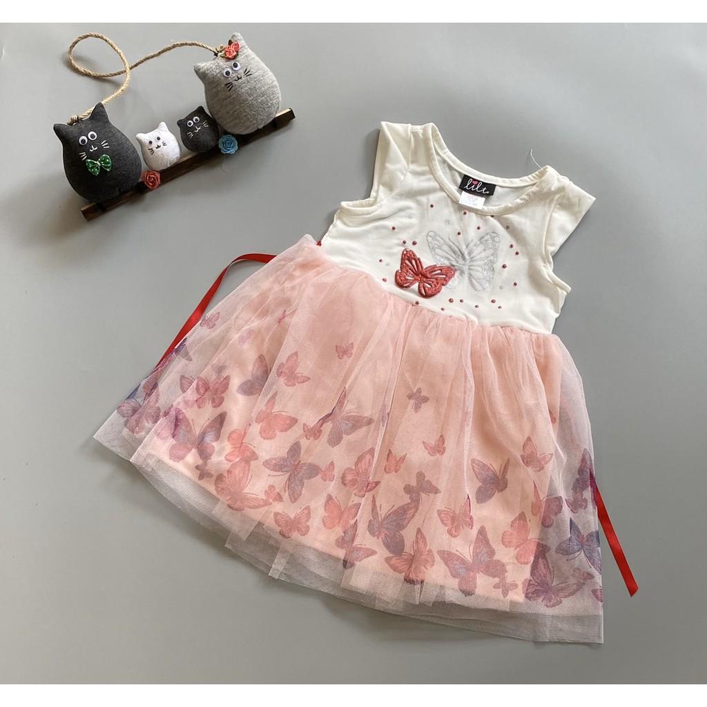 Đầm thun phối chân váy voan BG