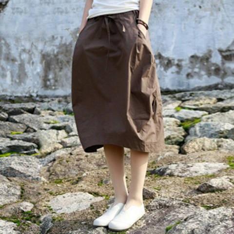 Chân váy nữ dáng suông chất cotton thời trang duyên dáng