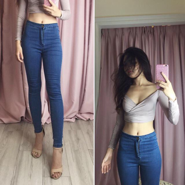 Quần jean dài form chuẩn đẹp