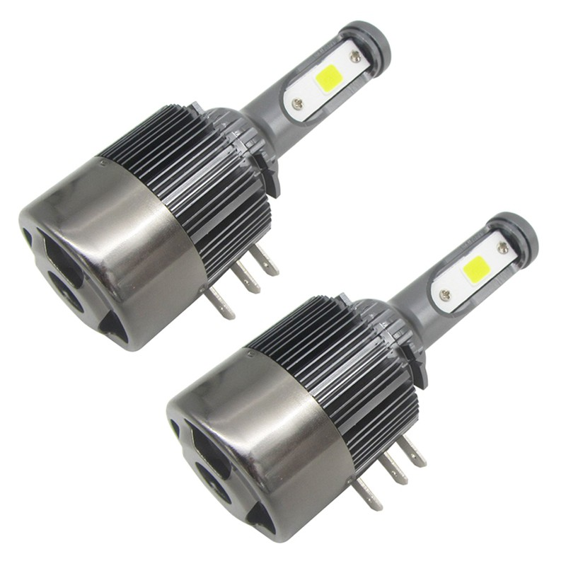 2PCS 55W/bulb 110W/set 11000LM/set H15 LED Headlights Replace HID Bi-Xenon Hi/Lo
