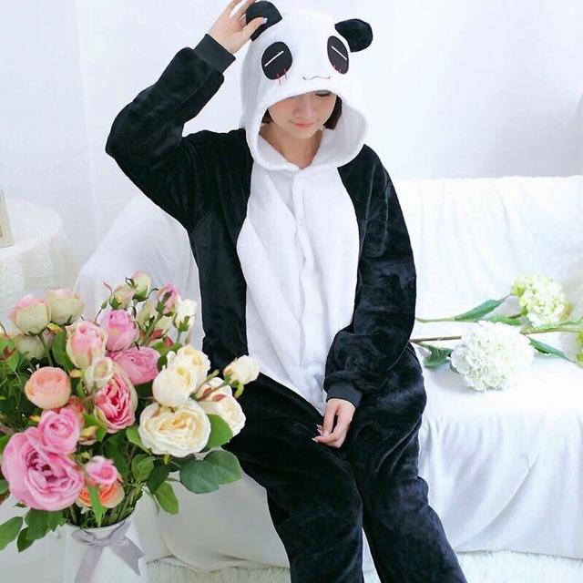 Bộ ngủ thú bông hình panda có sẵn