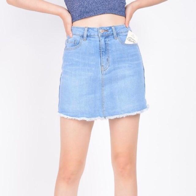 Chân váy Jeans Vnxk (có quần bên trong)