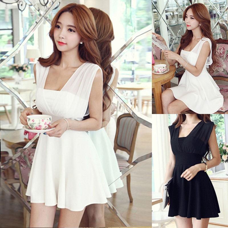 6840165763 - Phiên bản chất lượng cao của phụ nữ kích thước lớn váy mỏng gợi cảm váy hộp đêm eo phụ nữ đầm voan
