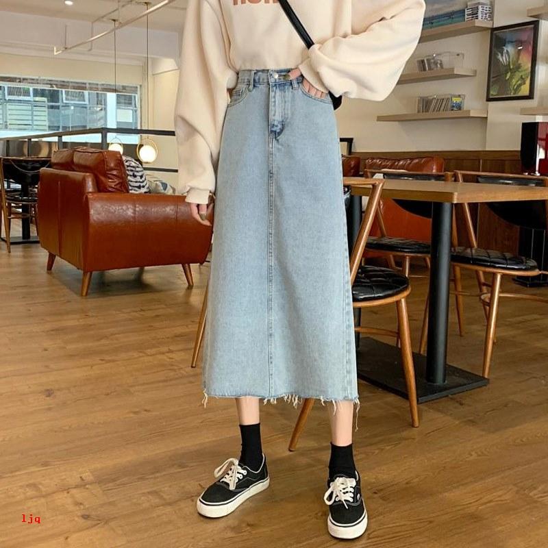 Chân Váy Lưng Cao Xẻ Tà Thời Trang Xuân Thu 2020 Cho Nữ
