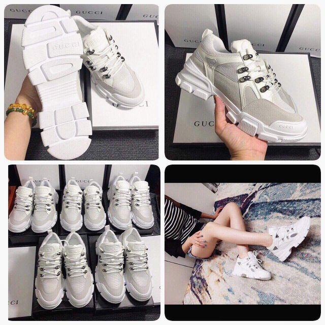 Giày Gucci đính đá trắng full box