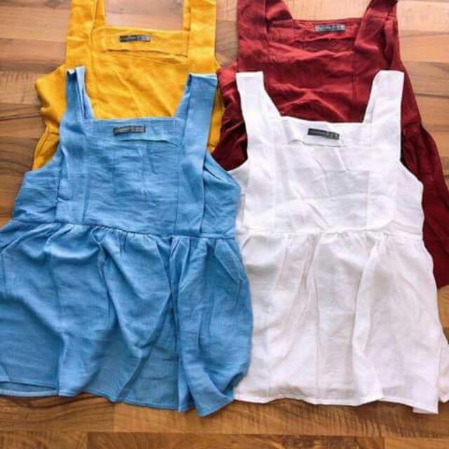 Áo babydoll chất đũi thô mát đủ 4 màu y hình