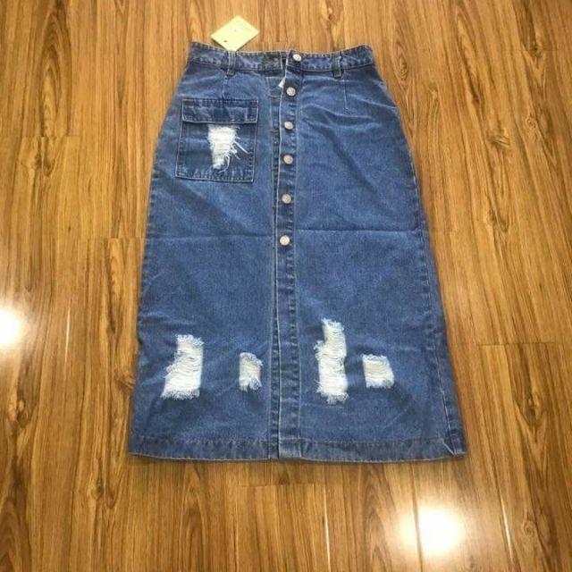Chân váy Jeans Hàng xuất khẩu