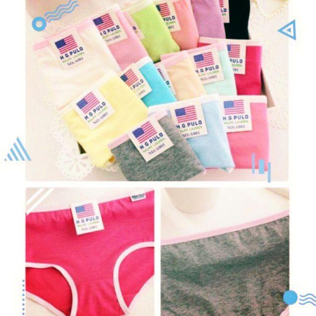 Combo 5 quần Lót nhiều màu