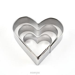 12pcs Baking Mould Reusable Stainless Steel 4 Shapes Pastry Stencils Biscuit DIY Mold Heart Round Flower Durable