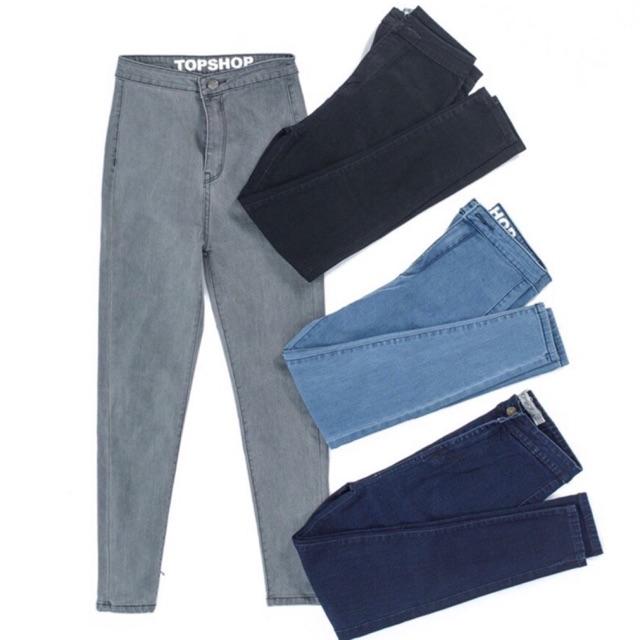 HT- bán sỉ quần jean bò 4 màu cạp caoo cho nữ