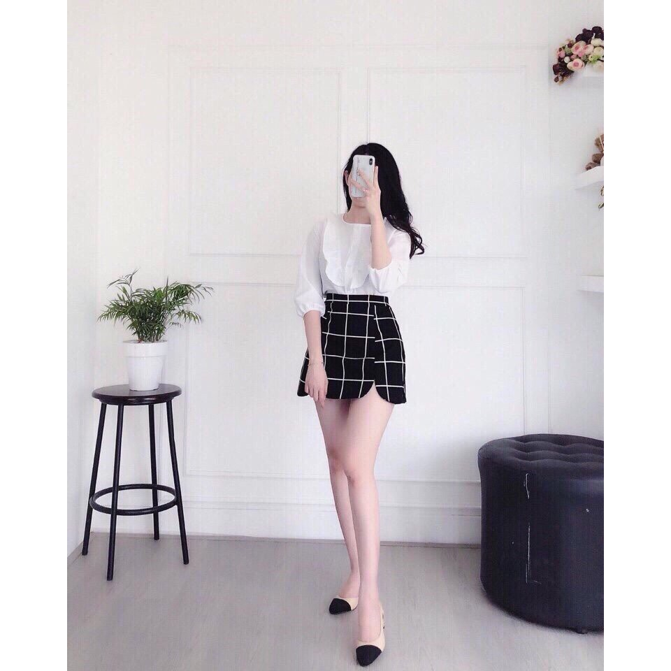 Sét Áo Kiểu Nữ Kết Hợp Chân Váy Thời Trang VA 800006