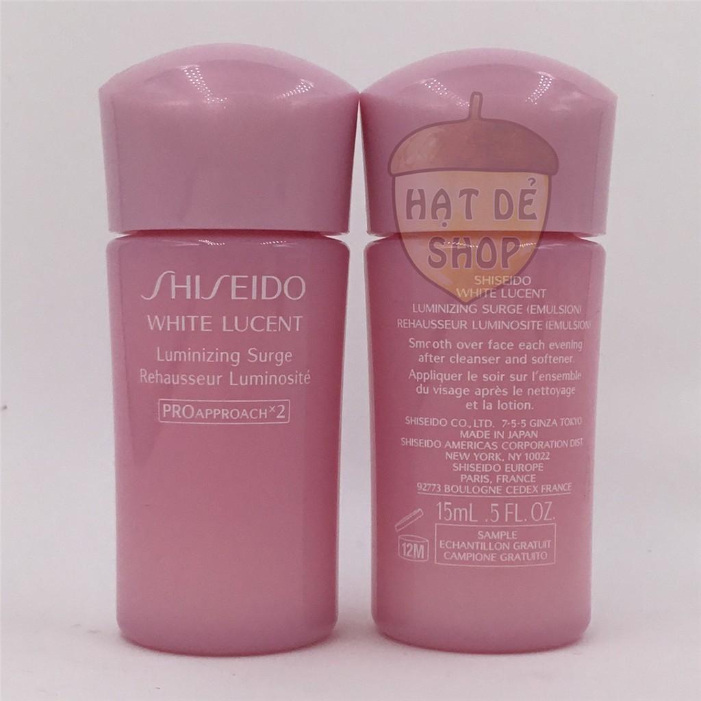 Shiseido Sữa Dưỡng Ẩm Trắng Da White Lucent Luminizing Surge 15ml