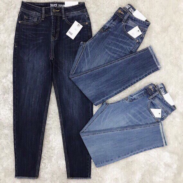 Quần jeans baggy tua lai